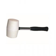 Gumikalapács fém nyéllel fehér 90 mm