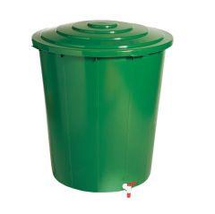 Esővíztároló zöld, tetővel, csappal 200L