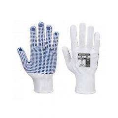 Nylon kesztyű PVC pontozott - fehér/kék XL-es A110