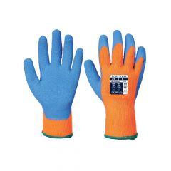A145 - Hűtőházi kesztyű - narancs/kék XL-es