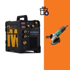 Iweld Gorilla Pocketmig 205 Aluflux limited E. hegesztő inverter + Hikoki G13STA sarokcsiszoló (egyedi csomagajánlat)