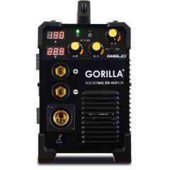 Iweld Gorilla Pocketmig 205 Aluflux limited E. hegesztő inverter
